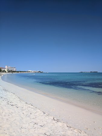 View of the beach - that's Baha Mar in the distance.