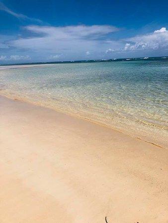 Walk to left of beach