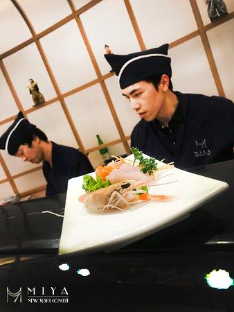 gambero crudo e sashimi
