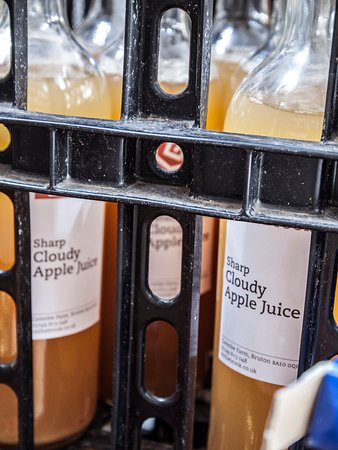 Our own apple juice, made from apples grown in our orchards. It's the best around!
