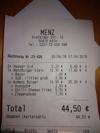 Menz Burger照片
