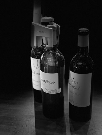 With our wine system we are able to serve every bottle in glass without opening it