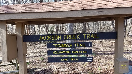 Yellowwood State Forest: Trailhead for Jackson Creek, Tecumseh, and Lake Trails