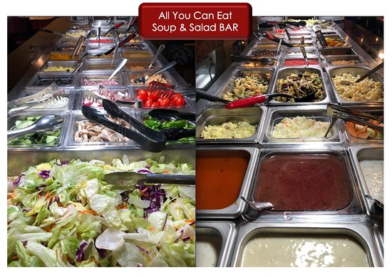 All you can eat soup and salad bar