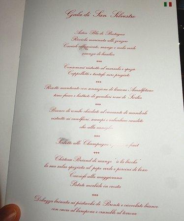 Grand Hotel Terme & Spa: menu di san silvestro
