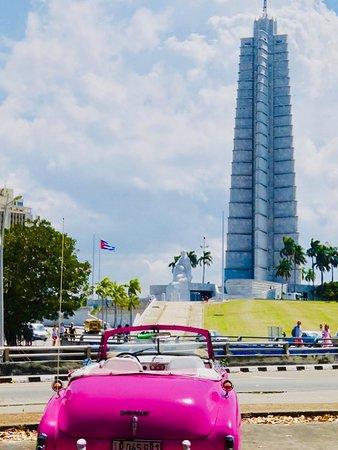 Beautiful view of Jose Marti monument