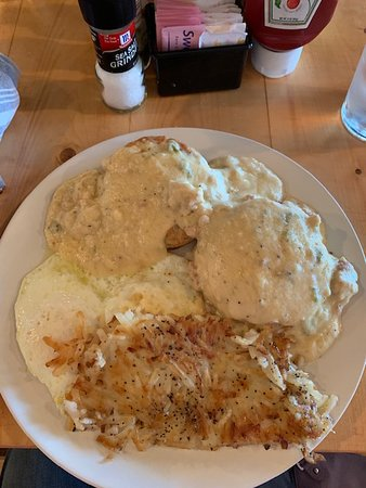 Jalapeno gravy and biscuits