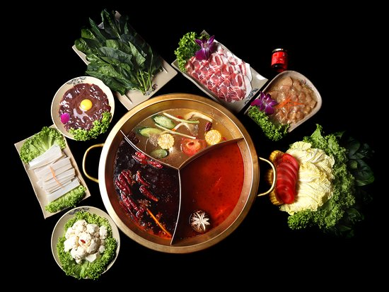 Xiao Long Kan Hotpot: Lunch for for 3 - 4 Pax Comes with 3 flavoured Soup Base Comes with Fresh mutton Slices, Tender Slice Chicken, Pork Kidney, Spinach, Bamboo Shoot and Assorted Vegetables.