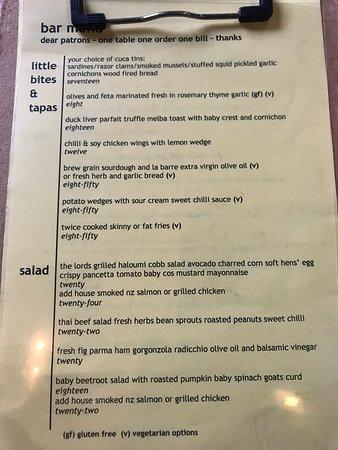 The Lord Nelson Brewery Hotel Restaurant: フードメニュー