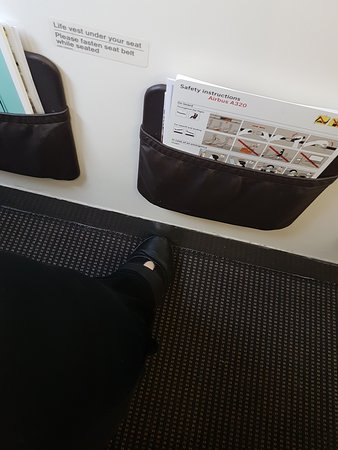 Swiss International Air Lines [SWISS]: plenty of knee room but tight for feet (you can't stretch your feet.)