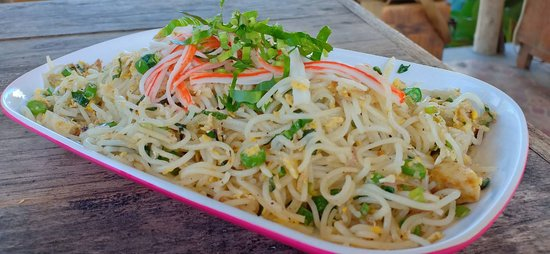 Stir-friec rice noodle with soy sauce