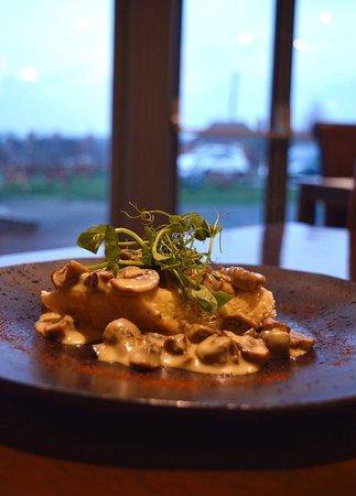 The Blue Bell Inn: Creamy Garlic Muchrooms on a Toasted Ciabatta.