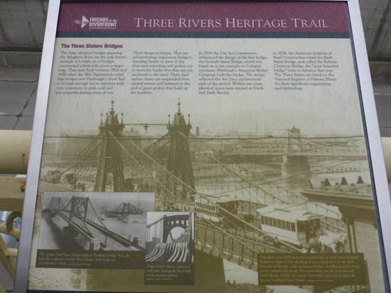 Andy Warhol Bridge: Three Sisters Bridge History Board