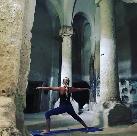 Yoga in the cave churches