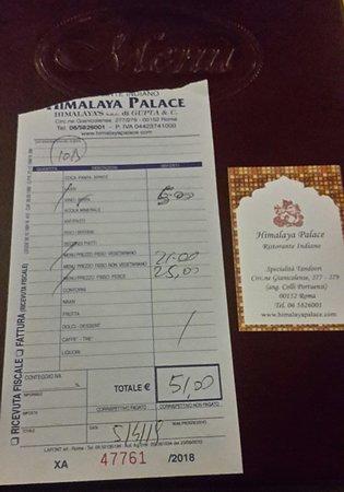 Himalaya Palace: Il conto