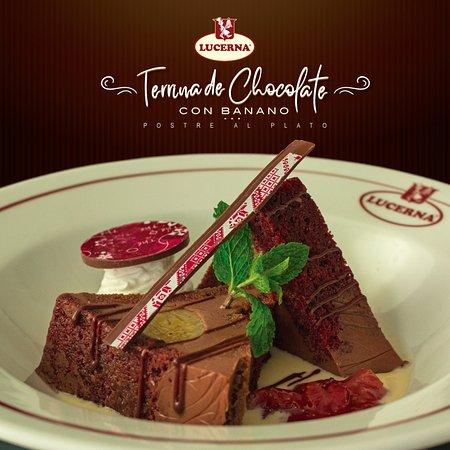 Date un gustico y prueba nuestro #PostreAlPlato de esta quincena: Terrina de chocolate con banano caramelizado en salsa de vainilla. Una delicia Lucerna para disfrutar hasta el 15 de abril.
