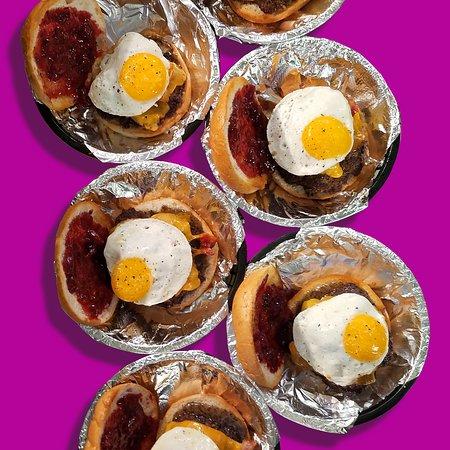 YCSF Craft (Yellow City Street Food): Our Wake & Bake Burger (breakfast style burger). On main menu.