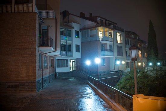 Tbilisi, Georgia: Apartment facade