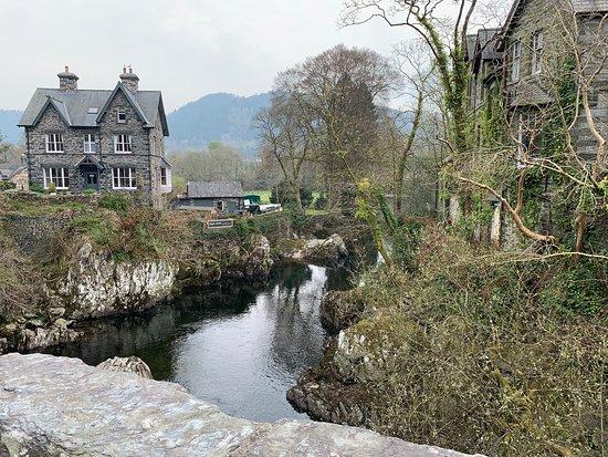 Beautiful bridge, village and surroundings
