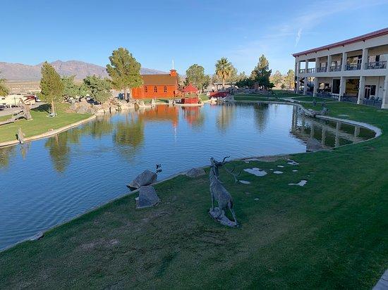 Longstreet Inn Casino & RV Resort: The Pond from our balcony