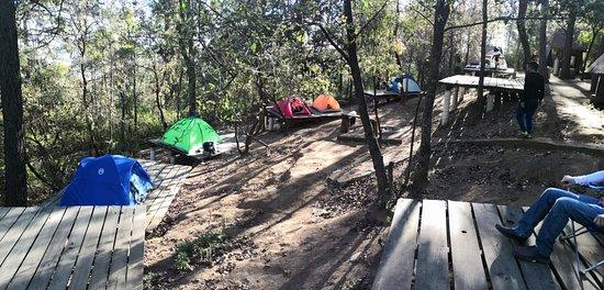 Parque El Tecolote Mazamitla: zona de camping