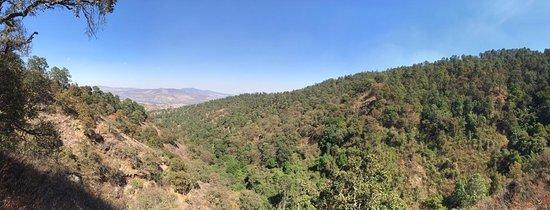 Parque El Tecolote Mazamitla: vista desde uno de los senderos del parque