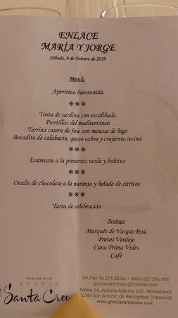 Restaurante Granja Santa Creu: GRANJA SANTA CREU