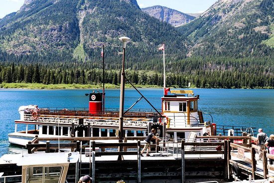 The boat on Waterton Lake