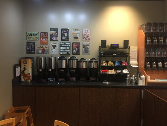 A large selection of gourmet coffees