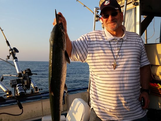 New Buffalo, MI: Brother Jeremiah reeled in the big one for the day. He is a true Fisher of Men