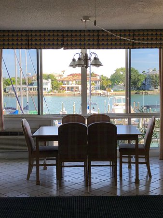 View from the dining area, with the windows open