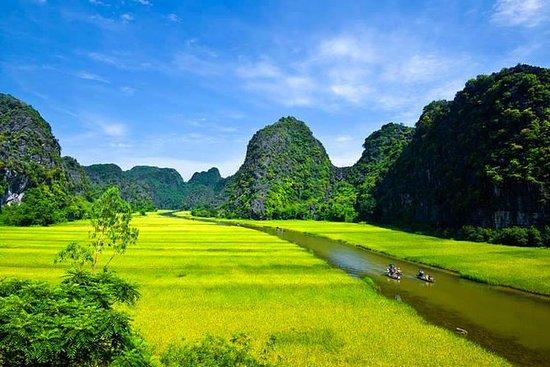 Hoa Lu-tempel en Tam Coc Grottoes ...