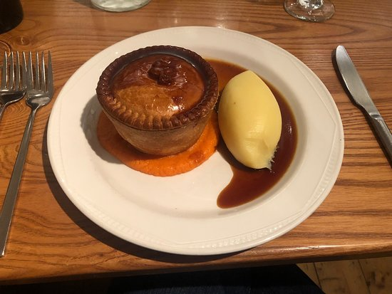 The best pie I've ever had! (Veg on a separate plate)