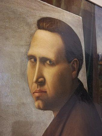 Dipinto della mostra Discreto continuo di Alberto Bardi, locazione: Casino dei Principi.