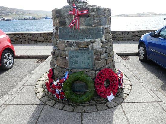 Shetland Bus Memorial in Scalloway