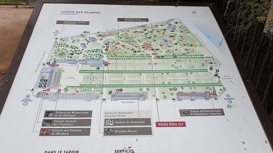 Plan du Jardin des Plantes et de la Ménagerie.