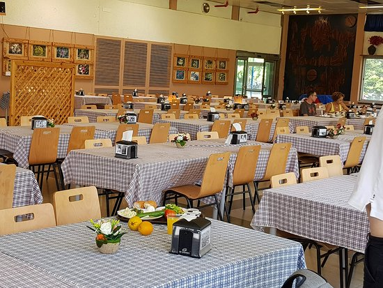 Галилея, Израиль: The communal dining room at Kibbutz Kfar Masaryk. Join us for breakfast or lunch with members of the Kibbutz.