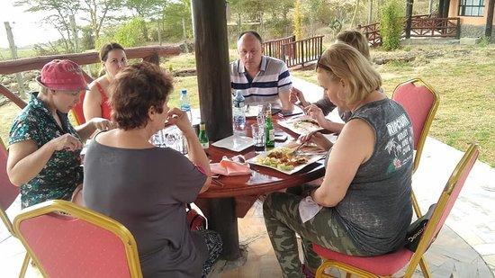 Gilgil, Кения: Lunch time at Sirville Lodge