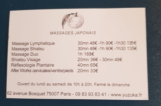 Yuzuka Massages Japonais.