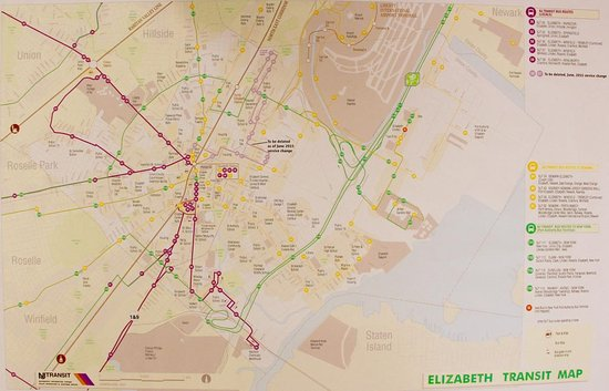 Elizabeth, NJ: Transportation Map