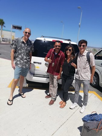 Juan Carlos at the airport with Chris Glen group.