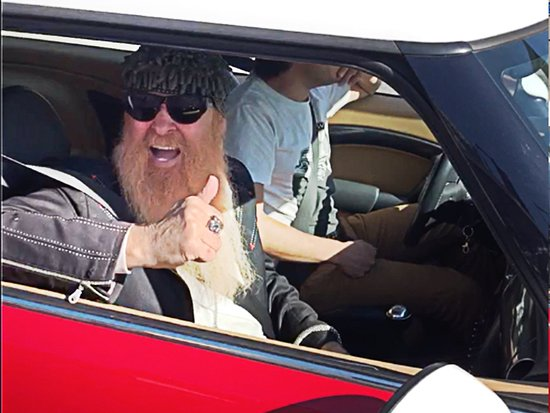 Celebs spotted on Celebrity Homes Tour. ZZ Top