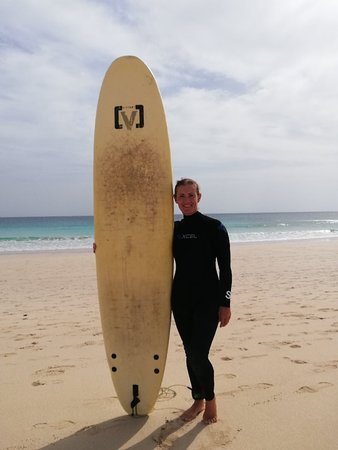 Super time learning to surf with wonderful teacher Tomasso