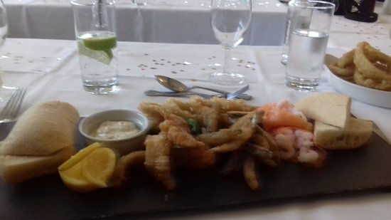 Seafood Platter that was superb at the Half Moon, Sheet, Petersfield. Will be going back soon.