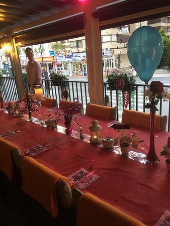 Paradiso: Table decorations for birthday