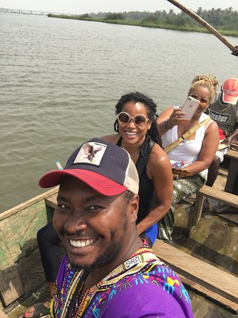 Having a wonderful time on the Togo river