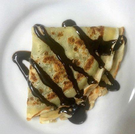 Cafeteria Oleas: Crepe de chocolate caliente