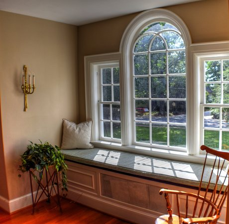 A window seat to enjoy the quaint view of Main Ave Newton, NC.