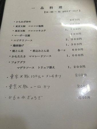 Yoshii Tohachi: メニュー!