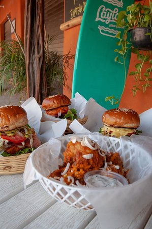 Burgers and Cauliflower wings